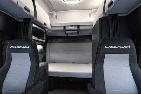 New Cascadia 72 Raised Roof Sleeper Cab Interior Shown With Standard ...