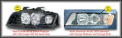 new s4 8e spec headlights coming in black black and black