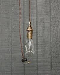 industrial bare bulb pendant light pull chain socket by lightlady