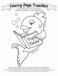 Library Book Coloring Pages Images Pictures