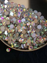 100 Ab Flat Pellosa AB Back Rhinestone Crystals Etsy