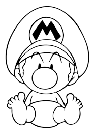 Click To See Printable Version Of Baby Mario Coloring Page