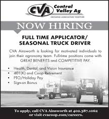 100 Truck Drivers For Hire ApplicatorSeasonal Driver Nebraska S