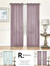 Crushed Voile Curtains Grommet by What Is Crushed Voile Ebay