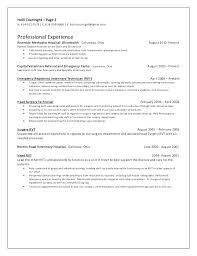 Veterinary Technician Resume Samples Assistant Templates
