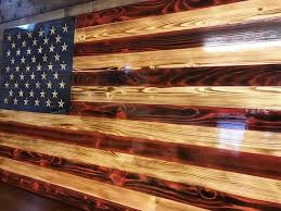 Hand Carved Charred American Traditional The Rustic Flag Company