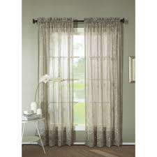 Walmart Better Homes And Gardens Sheer Curtains by Better Homes And Gardens Watercolor Mums Sheer Curtain Panel
