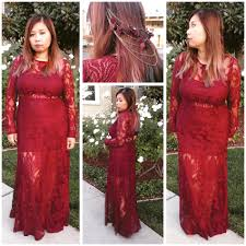 rose b forever 21 floral lace maxi dress courage wine and
