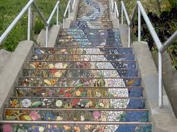 16th Ave Tiled Steps Project by Gorgeous Expansive Public Art 163 Tiled Steps In San Francisco