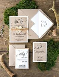 Rustic Wedding Invitations Barn Theme With Lace