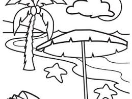 Great Beach Printable Coloring Pages 33 For Drawing With
