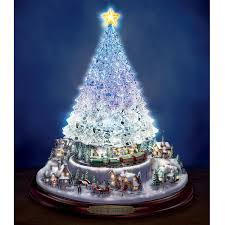 Thomas Kinkade Christmas Tree Village by Amazon Com Thomas Kinkade Crystal Tabletop Christmas Tree Lights