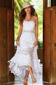 boho style women u0027s white poplin lace maxi dress by boston proper