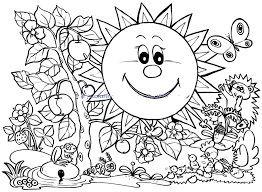 Download Coloring Pages Spring Page Only Colouring For