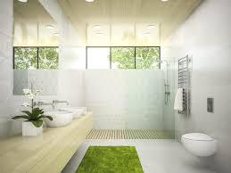 innenraum eines badezimmers mit einer holzdecke im 3d