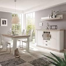esszimmer kombination ferna 61 im landhaus design pinie weiß und oslo dunkel nb ohne stühle b h t ca 328x104x44 cm
