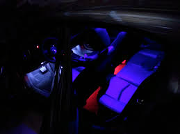 Custom Black Light UV LED overhead lights w Hidden Touch Switches