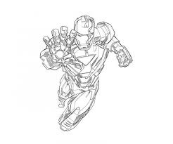 Iron Man Pose Coloring Page