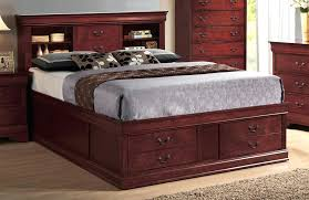 Kira Queen Storage Bed by Bookcase Image Of Queen Size Storage Bed With Bookcase Headboard