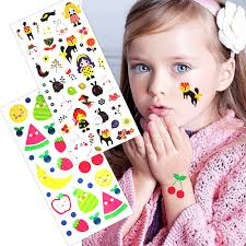 2pcs Colorful Kids Temporary Tattoos