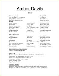 Acting Resume Template No Experience Kridainfo 50 Fresh Actor In Professional