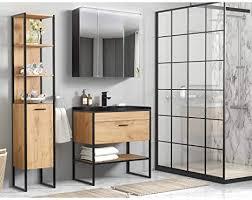 lomadox badezimmer set im industrial design eiche mit