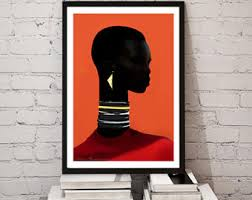 A3 AFRICAN GODDESS Princess African Queen Poster Art