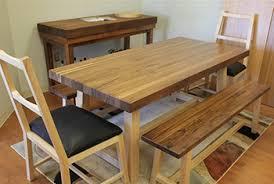 Butcher Block Tables Dining Sets