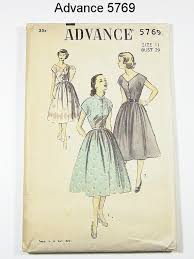 Vintage 50s Dress Pattern