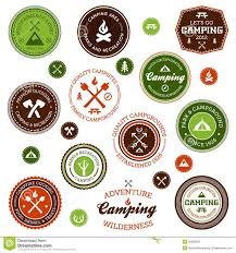 Set Of Retro Camping And Outdoor Adventure Logo Badges Labels By Mike McDonald Via Shutterstock
