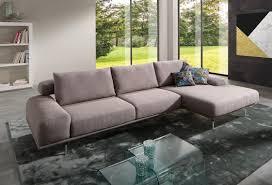 canap d angle design tissu canapé d angle avec chaise longue tissu ou cuir aslan supreme