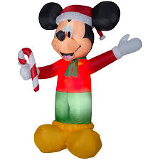 Disney 899ft Lighted Mickey Mouse Christmas Inflatable At Lowescom