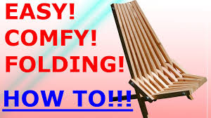 Folding Adirondack Chair Woodworking Plans by How To Make The Folding Stick Chair Easy Project Youtube