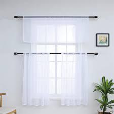 dreamskull kurzstores voile gardinen gardine kurz transparent küche modern kleinfenster wohnzimmer scheibengardine bistrogardine vorhang landhaus mit