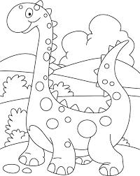 Walking Cute Dino Coloring Printout Download Free