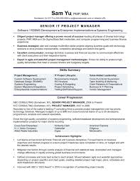 Best Of Project Management Resume Resumes Technical Manager Puters Entry Level 23