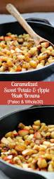 Paleo Pumpkin Custard Whole30 by Caramelized Sweet Potato Apple Hash Browns