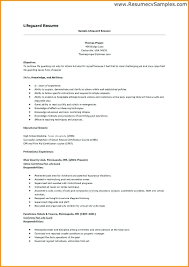 Best Ideas Of Lifeguard Resume With No Experience Stunning Example
