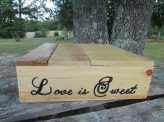 B Wooden Cake Stand Love Is Sweet Wedding