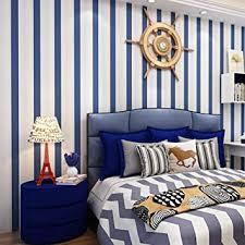 68160 tapete vertikale streifen abnehmbar für schlafzimmer wohnzimmer küche blau weiß