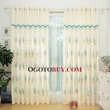 Fabric For Curtains Cheap by Elegant White Linen Cotton Fabric Embroidered Botanical Pattern