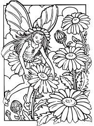 Special Flower Fairy Coloring Pages Book Design For KIDS