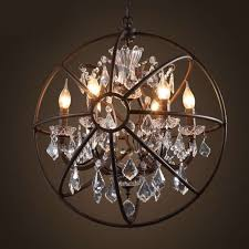 Amazing Brushed Nickel Chandelier With Crystals Astounding Globe Design Ideas Home Depot Orb Lowes