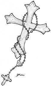 Cross And Rosery Tattoo Image By ElTattooArtistdeviantart On DeviantArt