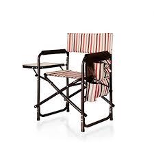 Folding Patio Chairs Amazon by Amazon Com Picnic Time Portable Folding Sports Chair Moka
