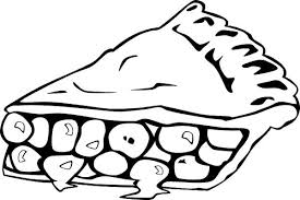 Apple Pie Slice Coloring Page
