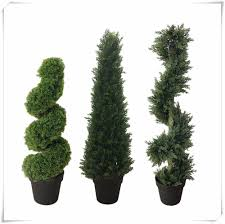 Best Topiary Trees Outdoor Spiral Artificial Cypress Tree Buy