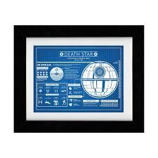 star wars death star infographic 24 w x 18 h blue grid