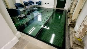 Glass Flooring Office Interior Design