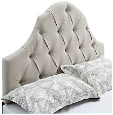 amazon com pulaski adelaide round top tufted headboard queen